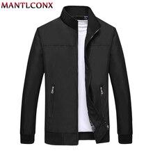 MANTLCONX Autumn Jacket Men 2019 Man Coat Casual Jackets Male Slim Stand Collar Zipper Mens Outerwear