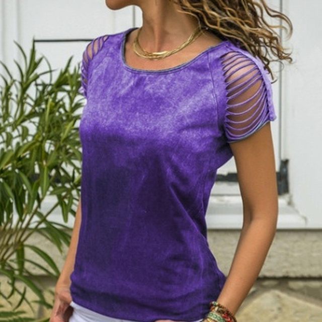 Фото женские летние топы 2020 modis с открытыми плечами рубашка коротким цена