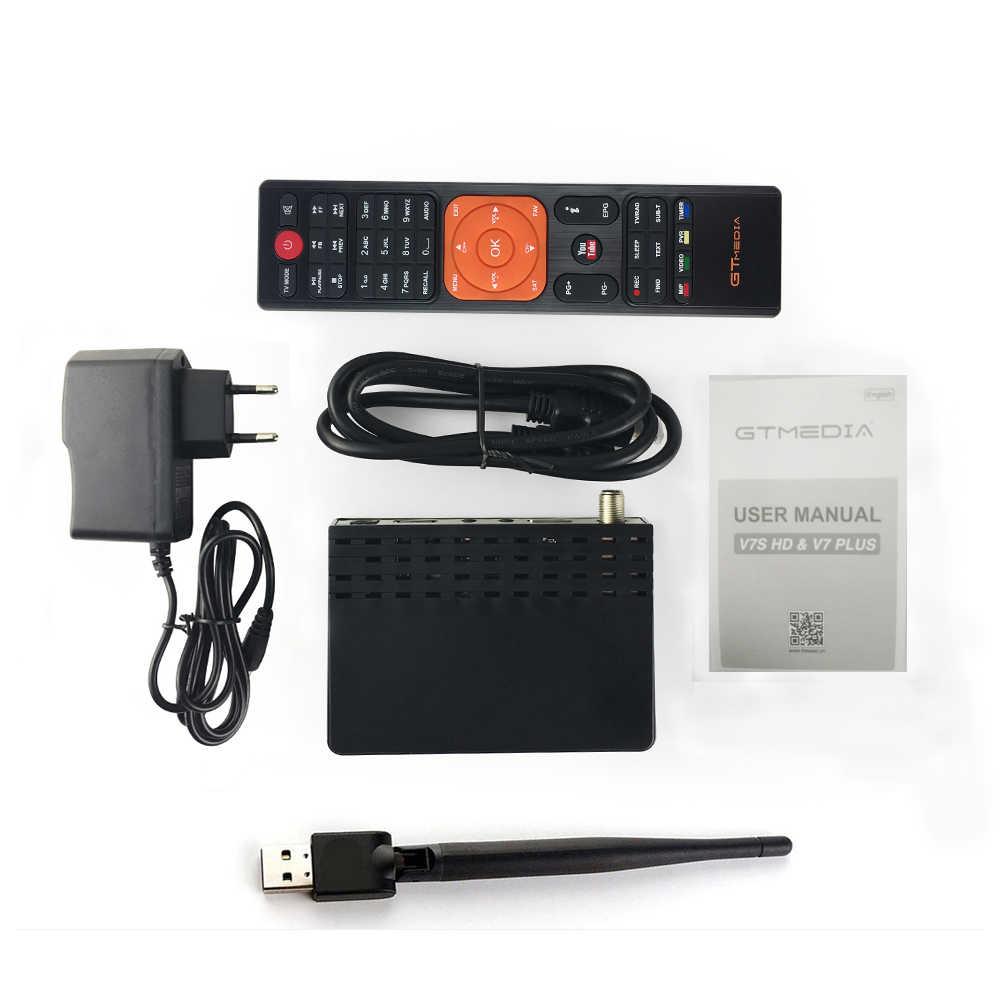 FTA DVB-S2 Gtmedia V7S Truyền Hình Kỹ Thuật Số Vệ Tinh Thu Full HD 1080P Bộ Giải Mã Với USB Wifi Freesat V7 Hỗ Trợ châu Âu Cline