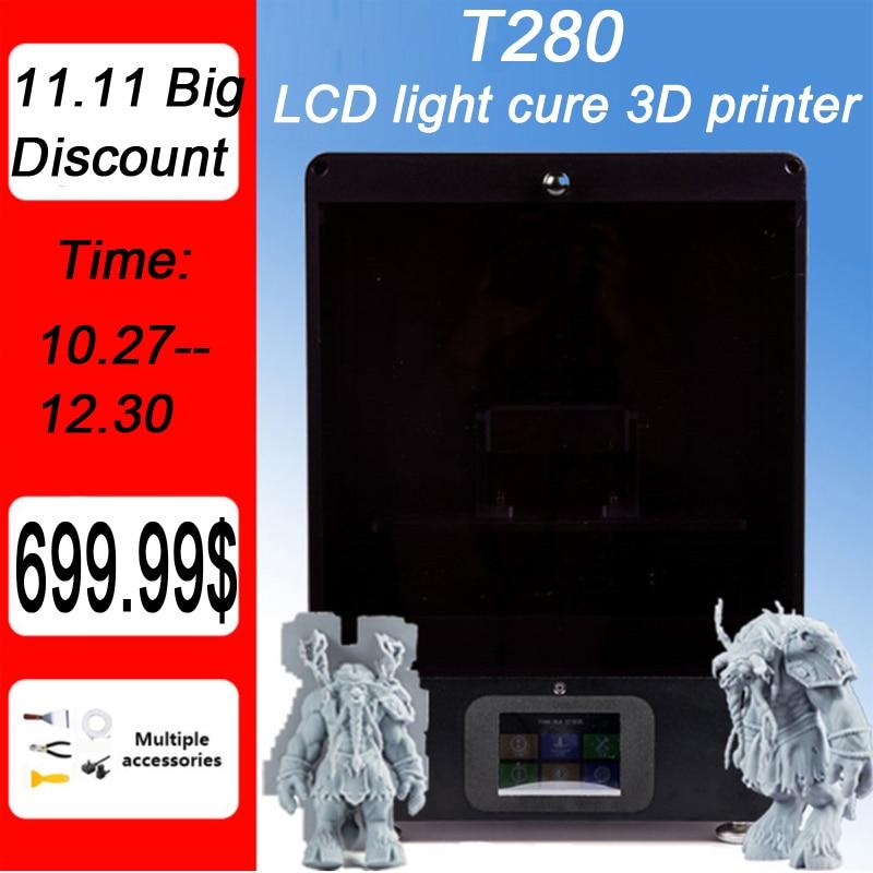 T200 LCD/SLA/DLP imprimante 3D 215*135*200mm volume d'impression haute précision 2K bricolage Impresora 405nm UV résine
