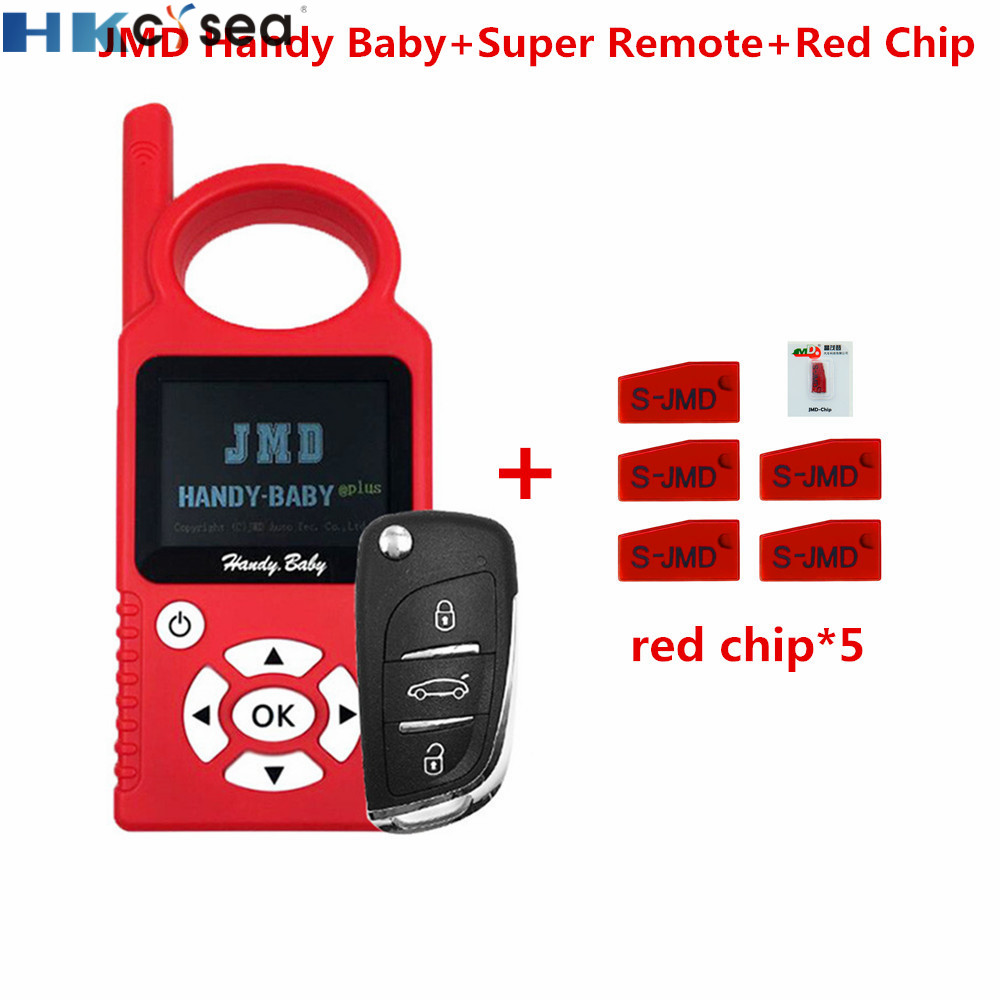 V9.0.5 Handy Baby Auto Key Programmer for 4D/46/48 Chip support Multi languages with JMD Super Remote and 5pcs Red Chip-in Auto Key Programmers from Automobiles & Motorcycles on