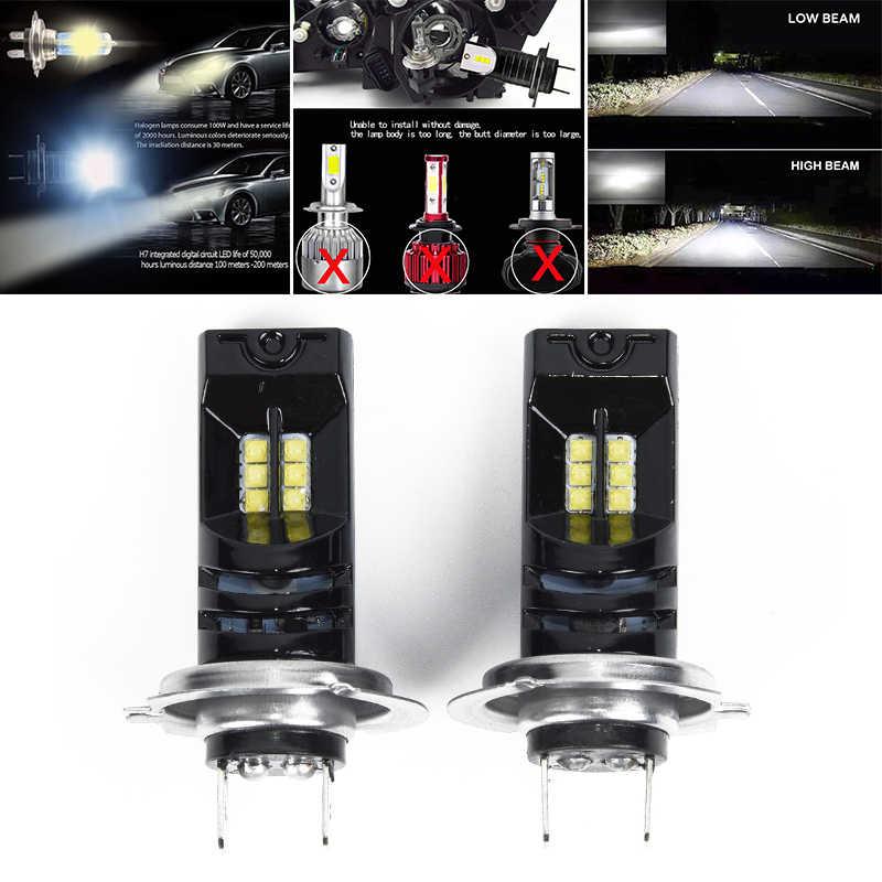 2x55 Вт 15000LM Водонепроницаемый белый 6000K H7 светодиодные, под шину CANBUS, для автомобиля фары Противотуманные фары