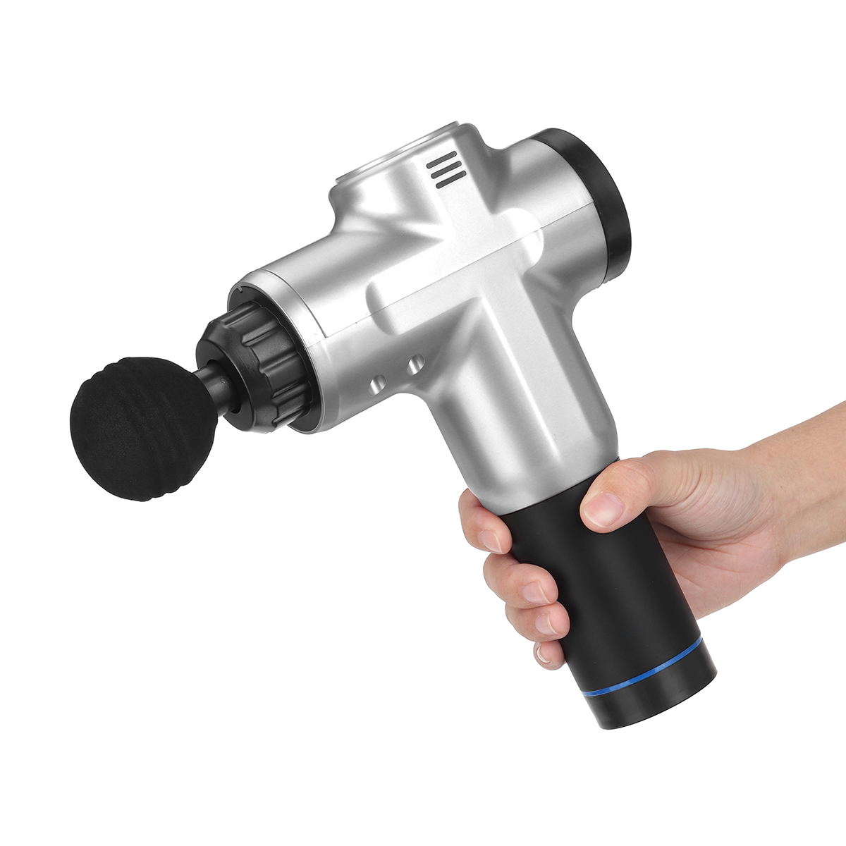 6 Gears Deep muscle massager LCD Display Massage gun Muscle Relaxation gun 4 head 2000 rpm to 4300 rpm Pain Relif Body Relax