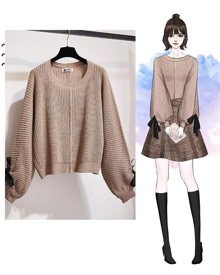 H0d398bc9f23144e39f258a6d4583d1b66 - ICHOIX women 2 piece set knitted tops and skirt set Korean style student casual two piece outfits fall winter set clothing