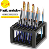 New96 Hole Plastic Pencil & Brush Holder Desk Stand Organizer Holder for Pens  Paint Brushes  Colored Pencils  Markers Art|Home Office Storage| |  -