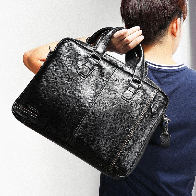 Genuine Leather Bag Men Business Men Laptop Bag High Quality Men Messenger Bag Men Computer Bag  Briefcase