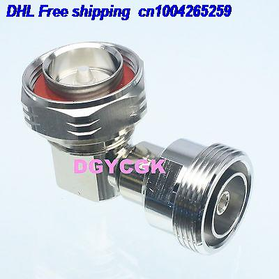 DHL 10pcs Conversion Adapter 7/16 DIN Male To 7/16 DIN Female Right Angle RF  Connector Adapter Connector  22cs