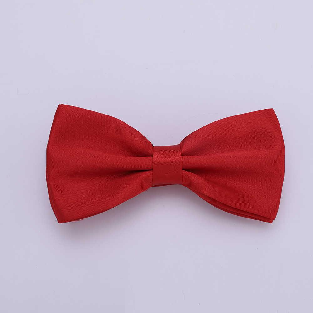 HUISHI Erkek Düz Renk papyon s Evlilik Siyah Pembe Mavi Kırmızı papyon Erkekler Için Şeker Renk Kelebek Cravat bow Tie Kelebekler