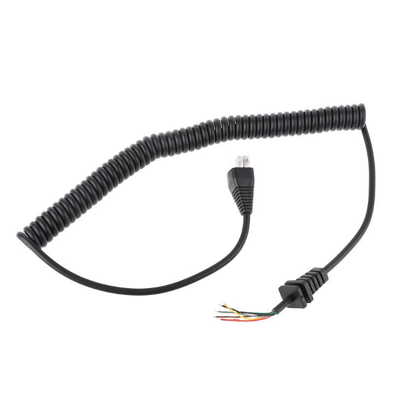 8 Core Spring Microphone Cable Mic Line For VX2108 VX2208 VX2508 Walkie Talkie