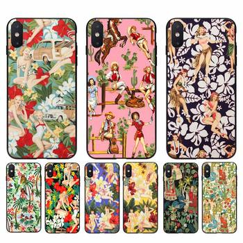 Yinuoda Aloha Girls Fabric by Alexander Henry Phone Case For iPhone 11 8 7 6 6S Plus X XS MAX 5 5S SE 2020 XR 11 pro Cover image