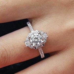 Image 3 - バゲ Ringen クラシック 100% 本物のシルバー 925 リングと 6 ミリメートルラウンド形状ジルコンリング結婚式婚約 Jewerly サイズ 6  10 卸売