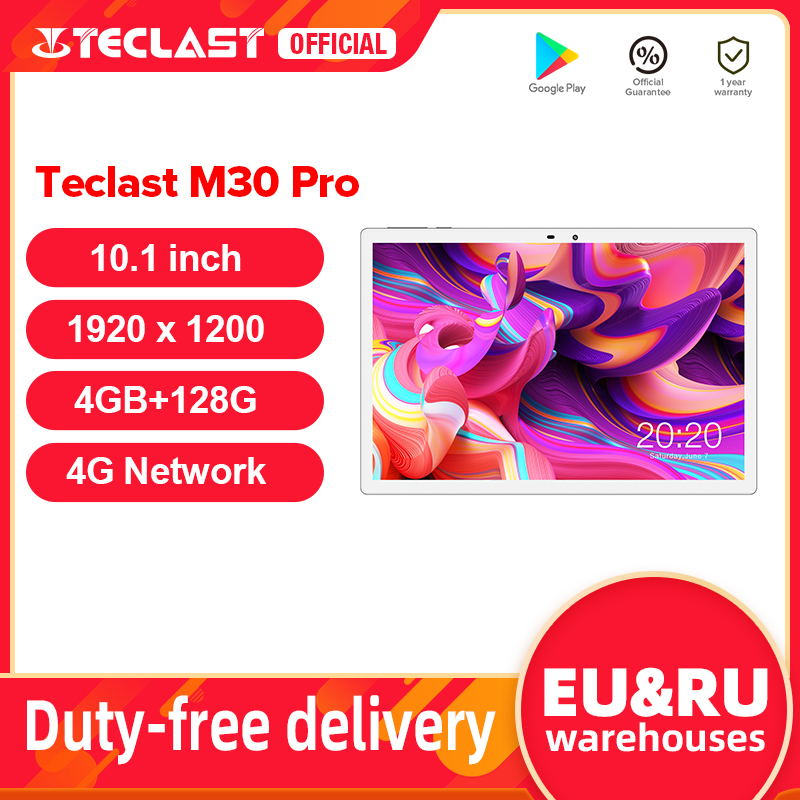 Teclast M30 Pro 10.1 Inch Tablet P60 8 Core 4GB RAM 128GB ROM Android 10 Tablets PC 1920x1200 IPS 4G Call Dual Wifi GPS Tablette Tablets  - AliExpress