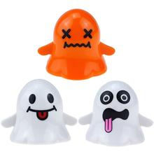 Cute Halloween Funny Ghost Elf Shaped Walking Wind up design Clockwork Collectible Toy Funny and cute Gift halloween chain clockwork toy ghost frankenstein vampire capsule funny joke prank wind up jumping walking toys kid gifts jm305