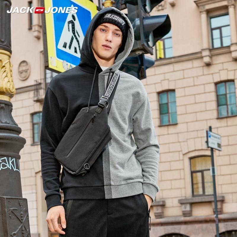Jack Jones Men's Stitching Color Fashion Hoodies Streetwear 219333501