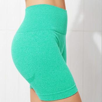 NCLAGEN Seamless Sports Tights Women Summer High Waist Fitness Yoga Shorts Squat Proof Tummy Control