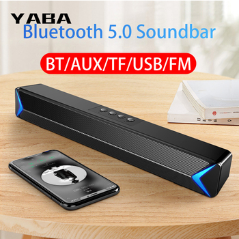 YABA TV Sound Bar AUX Speakers for the computer Bluetooth Speaker Home Theater FM Radio Surround Sound Bar for TV barra sonido kiito y15 wired sound bar speakers computer wired speakers home theater tv sound bar speakers computer