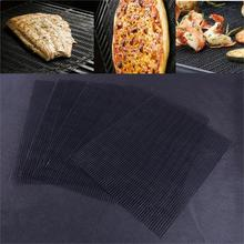 LETAOSK 2PCS Black Non Stick Teflon Outdoor BBQ Accessories Reusable Kitchen Cooking Mesh Grill Mat Sheet Liner