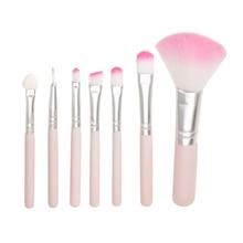цена на 7Pcs/set Beginner Makeup Brush Cosmetic Brush Face Eye Shadow Eyeliner Powder Lip Makeup Brush Cosmetic Blending Brush Tool Pink