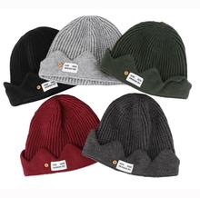 Cosplay Beanie Hat Crown Knitted Cap Embroidered hat SF