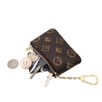 Mini Classical Wallet Purse Brand Designer Zipper Coin Purse Leather Key Bag Unisex Leather Bag KeyChian Purse and Wallet Coin yesello creative cute candy color macarons coin purse coin pack key bag hand held packet