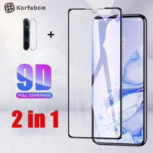 2 In 1 Anti Gores untuk Xiaomi Redmi Note 8 Pro Full Cover For Redmi Note8pro Pelindung Layar Kembali Camare lensa Film Note8 Pro(China)