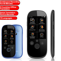 K1 Pro Simultaneous smart Voice Translator 2.4 Inch WIFI 500MP photo translation Multi-language Portable Smart Voice Translator