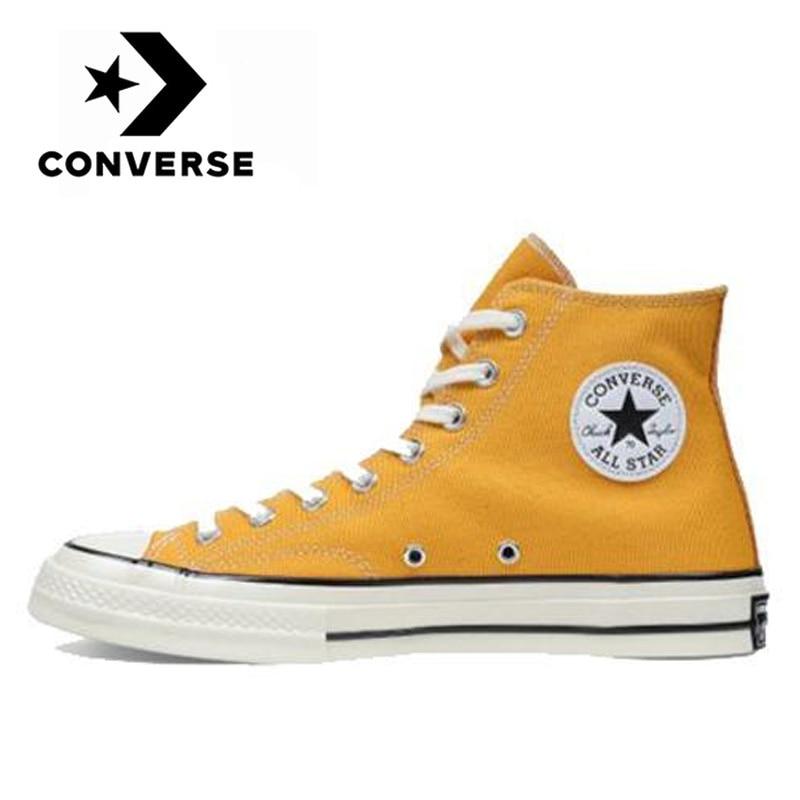 Кеды Converse Chuck Taylor All Star 70 1970s унисекс, повседневные холщовые туфли на плоской подошве, для мужчин и женщин, для скейтбординга, желтые, оригинал|Катание на скейтборде| | АлиЭкспресс
