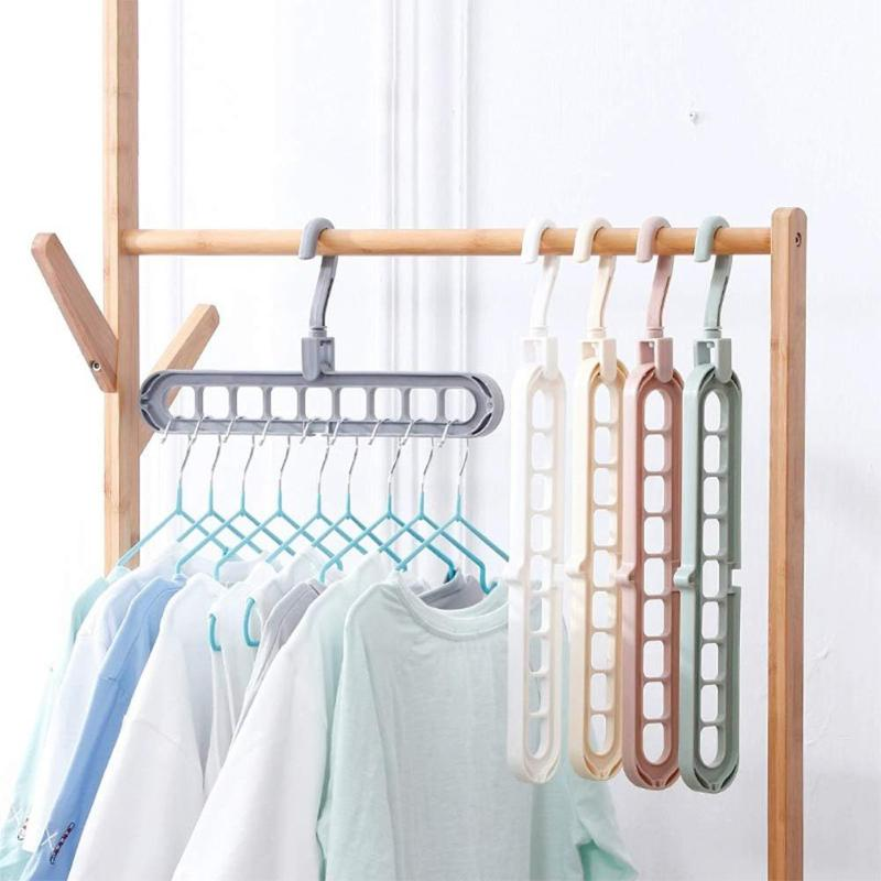 5pcs Portable Clothes Drying Racks Anti-skid Folding Portrait Landscape Rotating Home Bedroom Storage Accessories