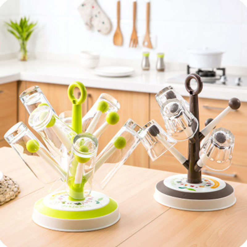 Cup Drain Rack Tree Shape Wine Glass Holder Mug Organizer Kitchen Sink Accessories PAK55