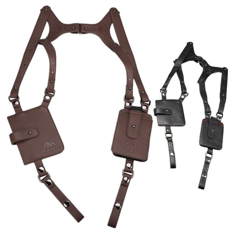 Çok fonksiyonlu Crossbody taktik depolama kılıfı omuz çantaları erkek anti-hırsızlık göğüs çantası hakiki deri açık spor avcılık B
