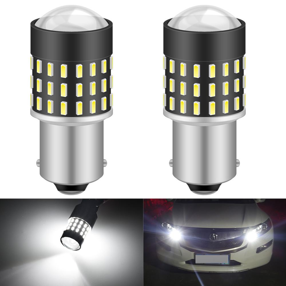 2pcs 1156 <font><b>ba15s</b></font> P21W Led Bulbs Car Turn Signal Lamp Light 54SMD 3014 Led Auto Bulb <font><b>12V</b></font> Amber Yellow Red DRL Running Lights image