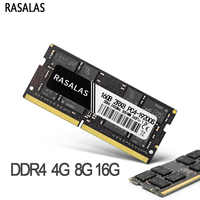 Rasalas Memoria RAM DDR4 8G 4G 16G portátil 1333, 2400, 2666, 17000, 19200, 21300MHz, 1,2 V 260PIN SODIMM Ram Memoria para Notebook DDR4
