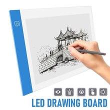 A3 a4/a5 tamanho três nível regulável led luz almofada tablet proteção para os olhos mais fácil para pintura diamante bordado ferramentas acessórios