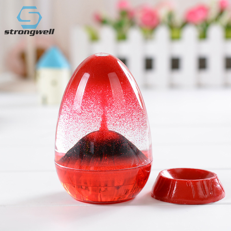 Strongwell Nordic Volcanic Eruption Oil Drop Hourglass Ornament Time Timer Home Decoration Creative Boyfriend Birthday Gift Toy