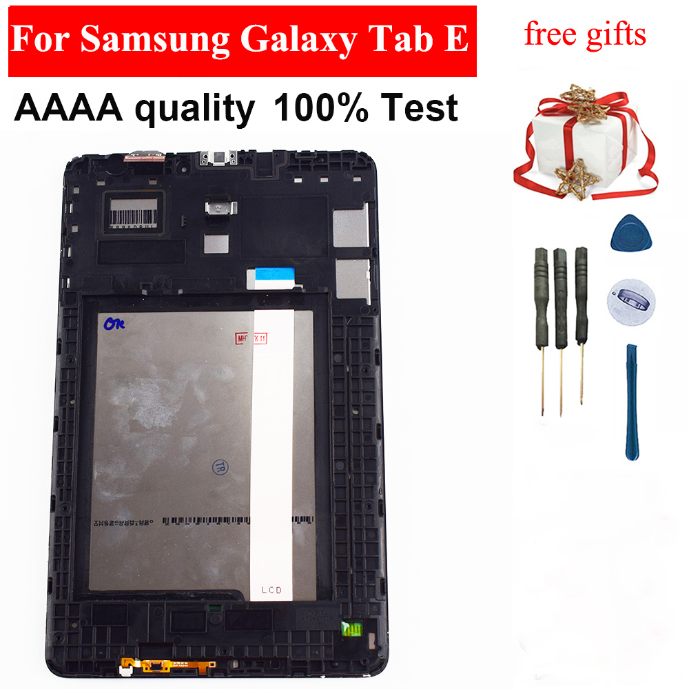 For Samsung Galaxy Tab E T560 SM-T560 SM-T561 T560 LCD Display Touch Screen Digitizer Assembly Frame For Samsung T560 Display