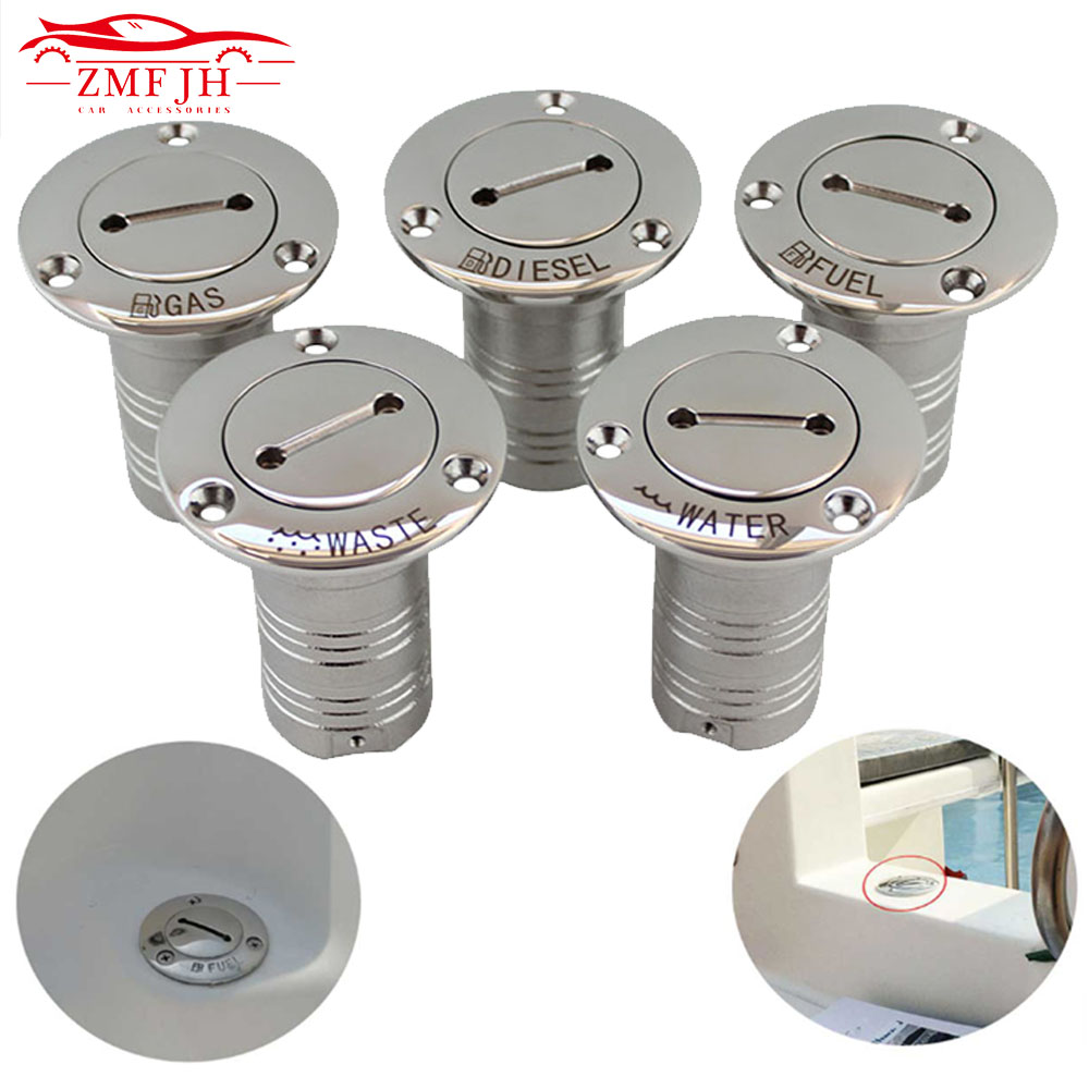 "1.5"" And 2"" 38mm Or 50mm 316 Stainless Steel Marine Boat Hardware Deck Filler Fuel Water Waste Diesel Gas Key Cap Fuel Water Was"