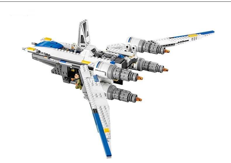 Image 3 - 05054 Star Wars The Rebel U Wing Fighter Jets Model 679pcs Building Blocks Bricks Toys Kids Gifts Compatible with 75155-in Blocks from Toys & Hobbies