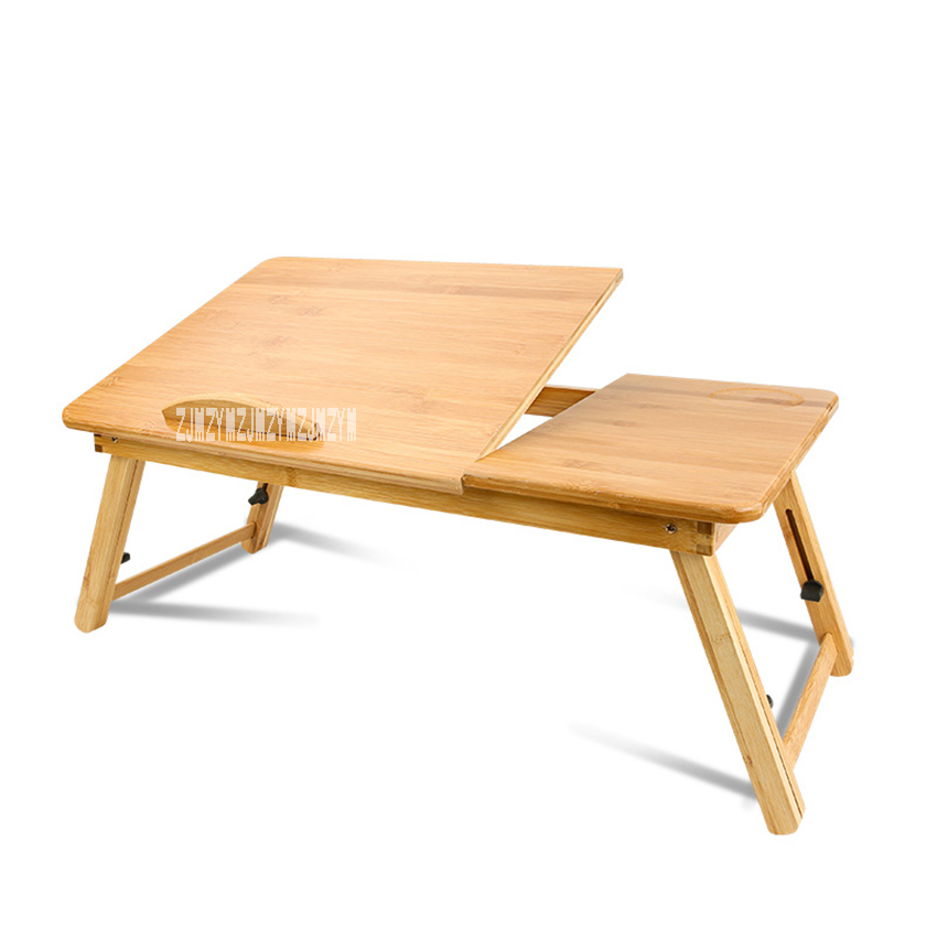 Mini Mobile Bamboo Folding Computer Desk Dormitory Bed Office Desk  Simple Lifting Student Lazy Notebook Writing Table