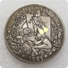 Type # 31_Hobo Nikkel Coin 1881-CC Morgan Dollar KOPIE MUNTEN-replica herdenkingsmunten(China)