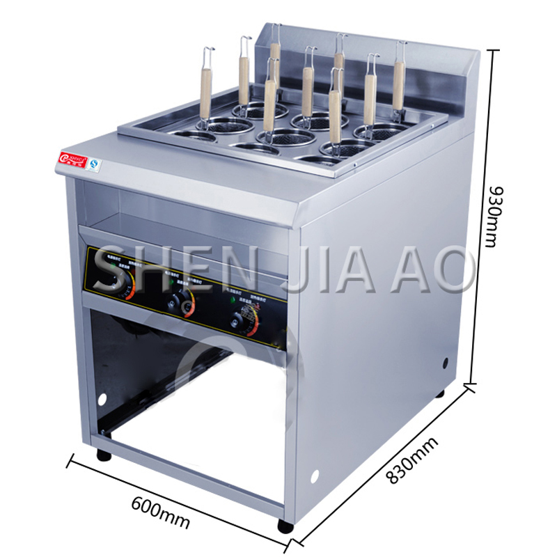 Commercial Nine-head Noodle Cooking Noodle Maker Multi-function Noodle Cooker Energy-saving Spicy Pasta Machine High-efficiency