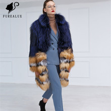 Fashion New Style Real Silver Fox Natural Red Fur Coats With Stand Collars Whole Skin Winter Thick Warm Hot Sell Jackets