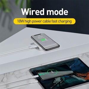 Image 2 - Baseus Quick Charge 3,0 беспроводной внешний аккумулятор PD QC 3,0 10000 мАч Qi Беспроводное зарядное устройство Внешний аккумулятор для Xiaomi Mini