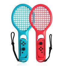 Bevigac 새로운 핸들 컨트롤러 왼쪽 오른쪽 abs 테니스 라켓 닌텐도 닌텐도 스위치 ns 조이 콘 마 리오 테니스 에이스 게임 플레이어