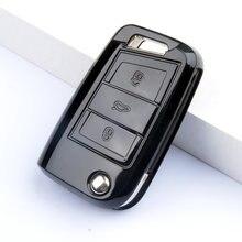 Новый ТПУ чехол для автомобильного ключа volkswagen vw golf