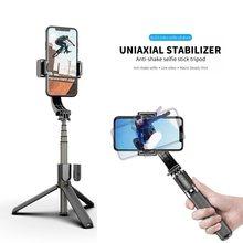 Roreta handheld cardan estabilizador celular gravação de vídeo smartphone cardan com obturador bluetooth para câmera ação telefone