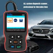 הכי חדש בורא C502 רכב OBD 2 אבחון כלי מלא מערכות אוטומטי אבחון סורק מקצועי עבור מרצדס בנץ OBD2 סורק