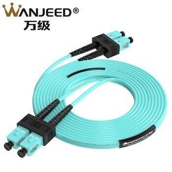 SC-SC Fiber Optic Patch Cord MM OM3 Duplex 3.0mm 3M Indoor Fiber optic Patch cable Jumper