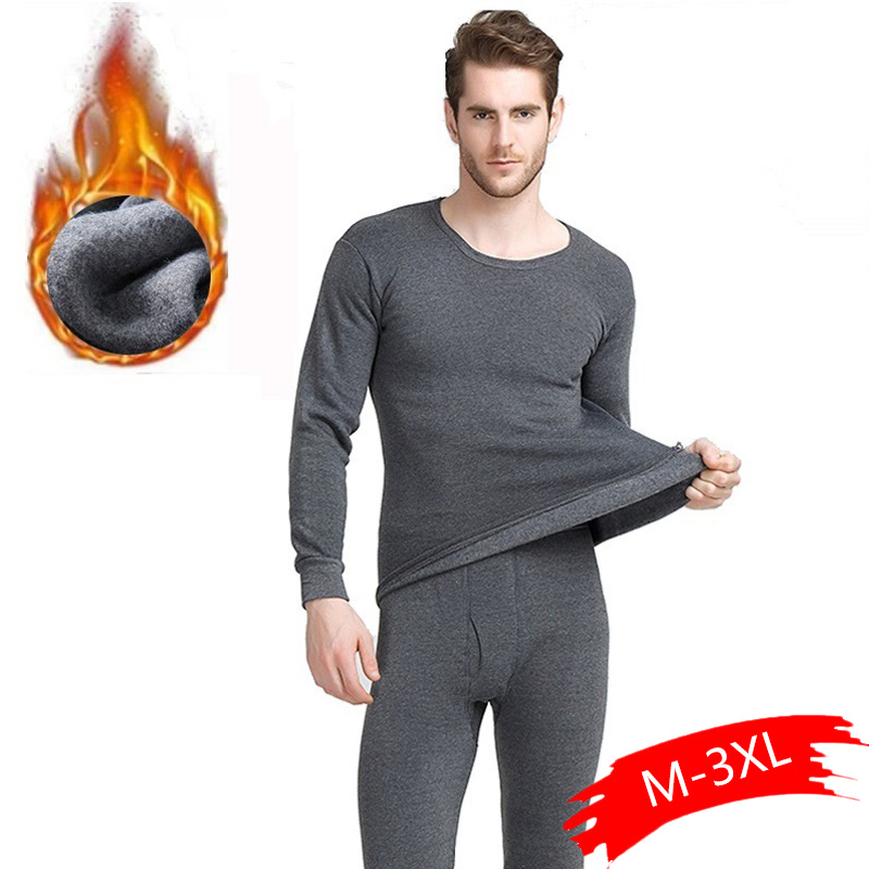 Winter Long Johns Thick Men Thermal Underwear Sets Keep Warm For Russian Canada And European Unisex Plus Size M-4XL Casual
