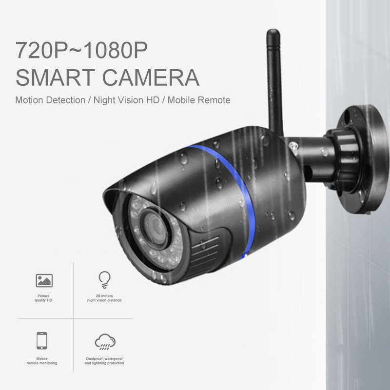 WIFI IP Camera Audio Record 1080P HD Netwerk 2.0MP Draadloze Camera Onvif Nachtzicht Waterdichte Camera TF Card Opslag