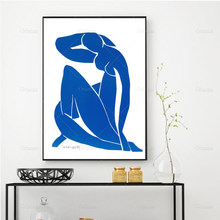 Matisse – affiche d'art mural, impression de couleur chair bleue, impression d'artiste moderne, idée cadeau